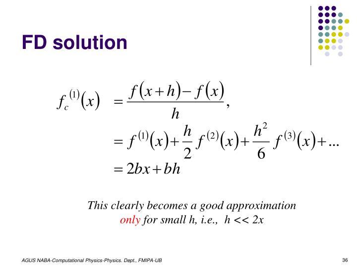 FD solution