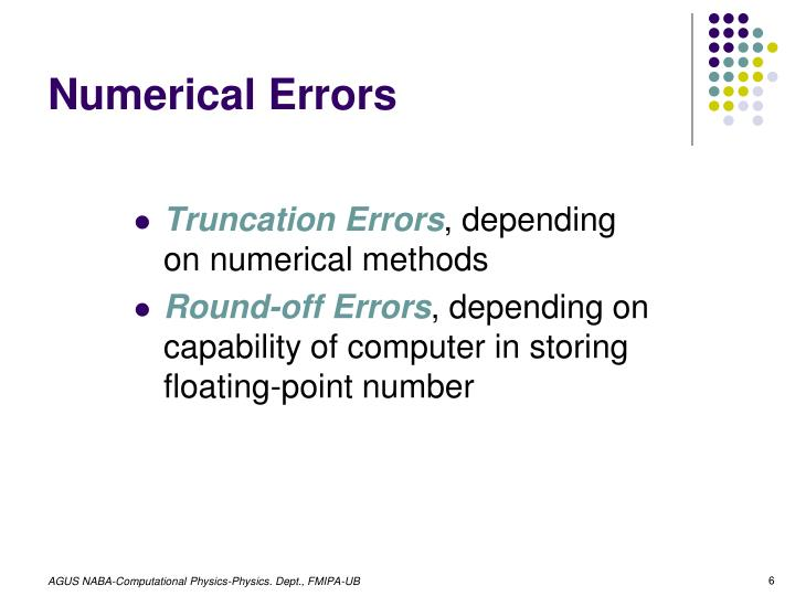 Numerical Errors