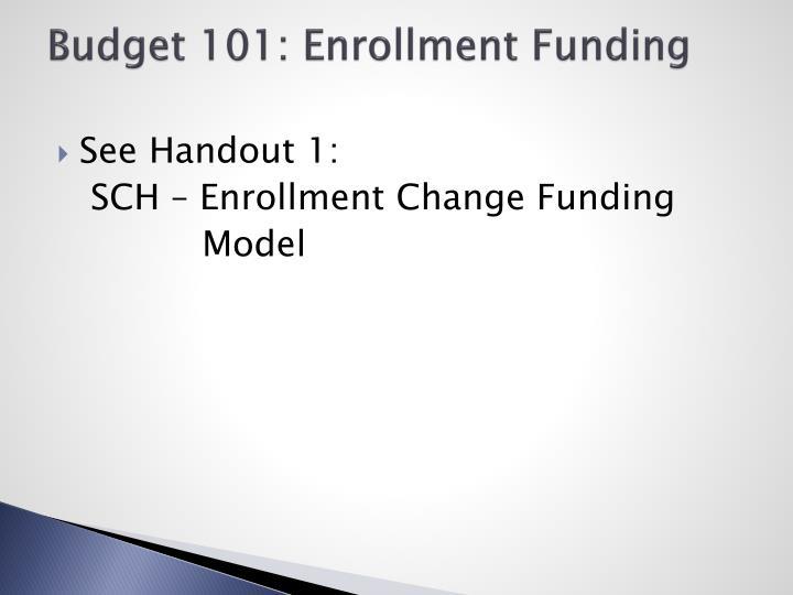 Budget 101: Enrollment Funding