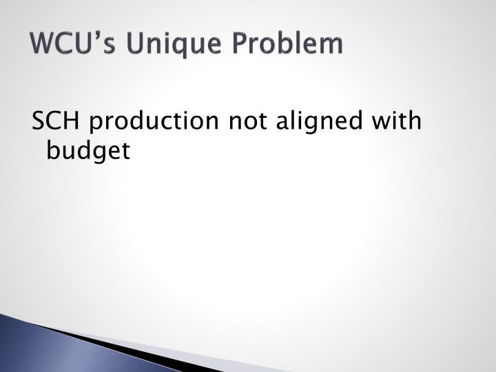 WCU's Unique Problem