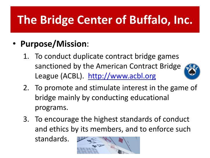 The Bridge Center of Buffalo, Inc.