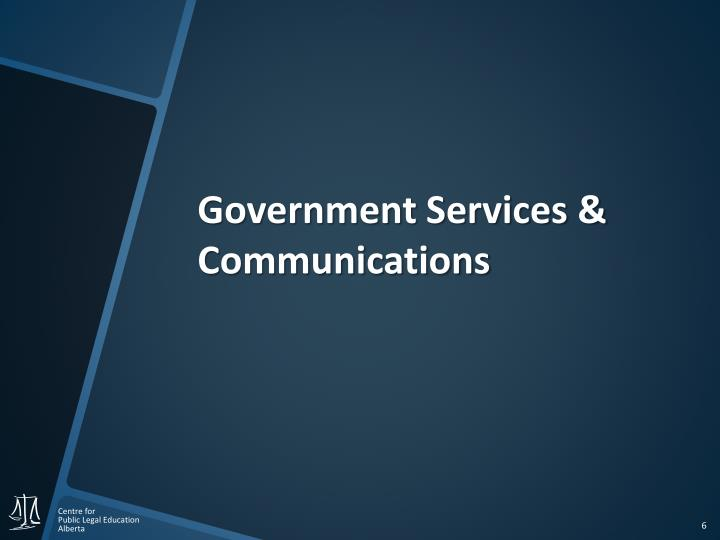 Government Services & Communications