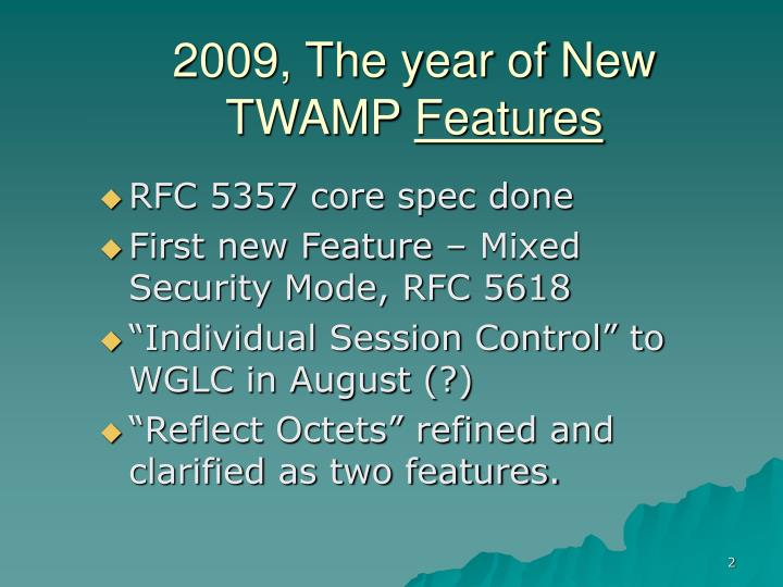 2009, The year of New TWAMP