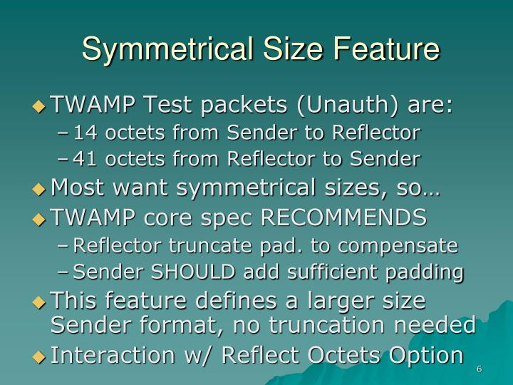 Symmetrical Size Feature