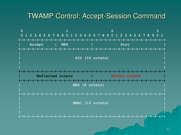 TWAMP Control: Accept-Session Command