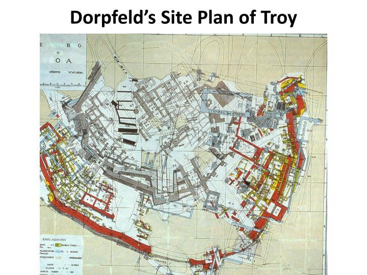 Dorpfeld's Site Plan of Troy