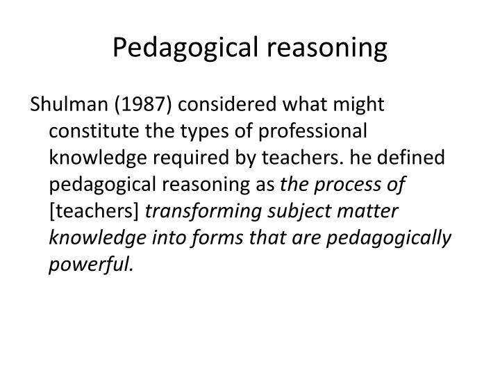 Pedagogical reasoning