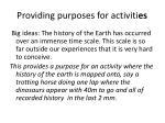 providing purposes for activiti es
