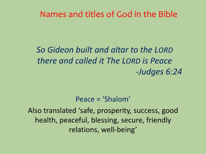 Names and titles of God in the Bible