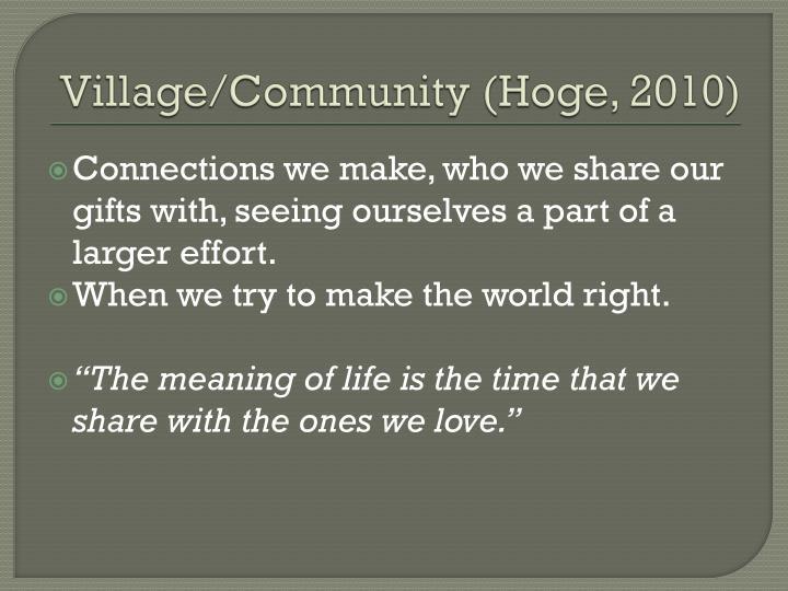 Village/Community (