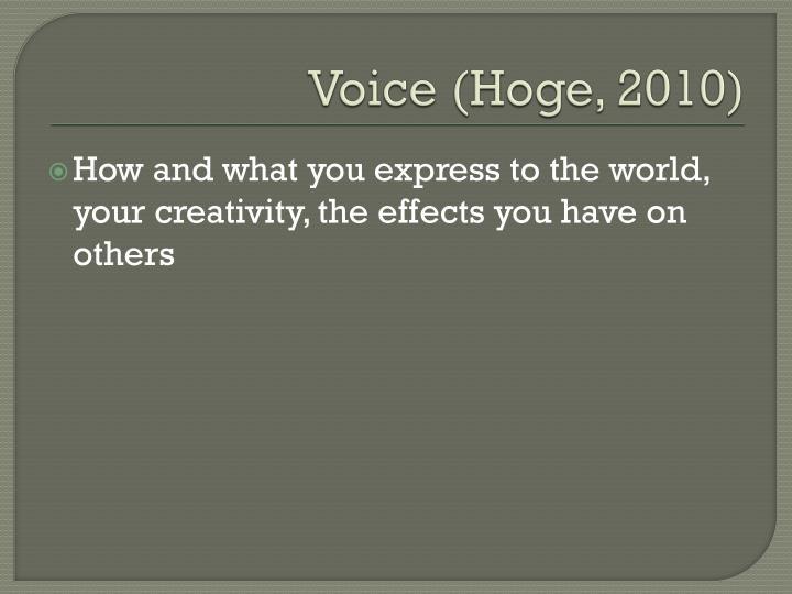 Voice (