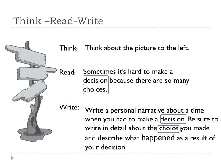 Think –Read-Write