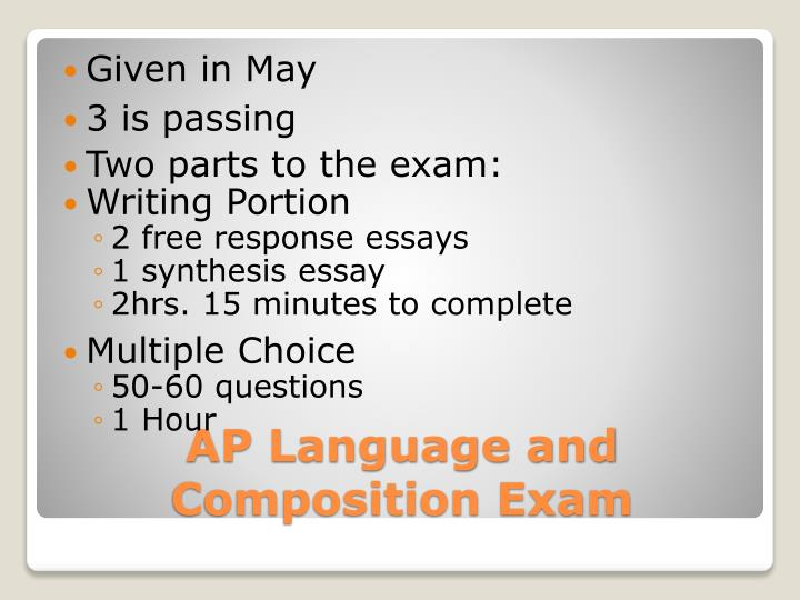 Ap language and composition exam