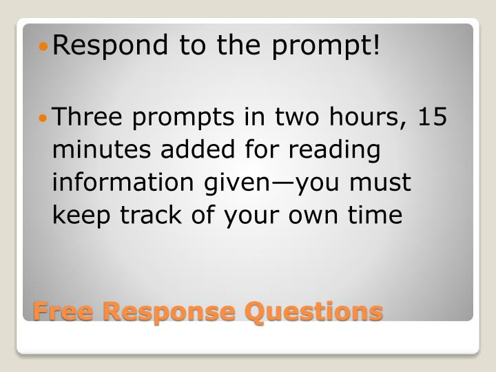 Respond to the prompt