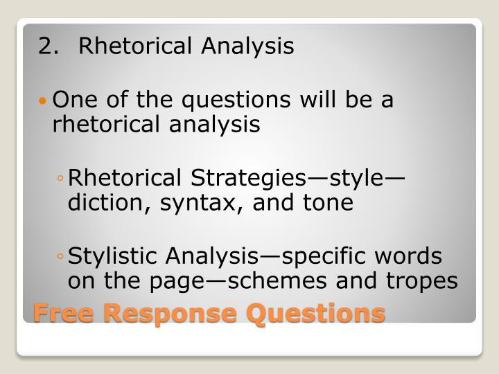 2.Rhetorical Analysis