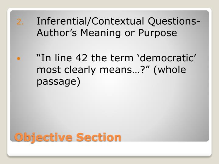 Inferential/Contextual