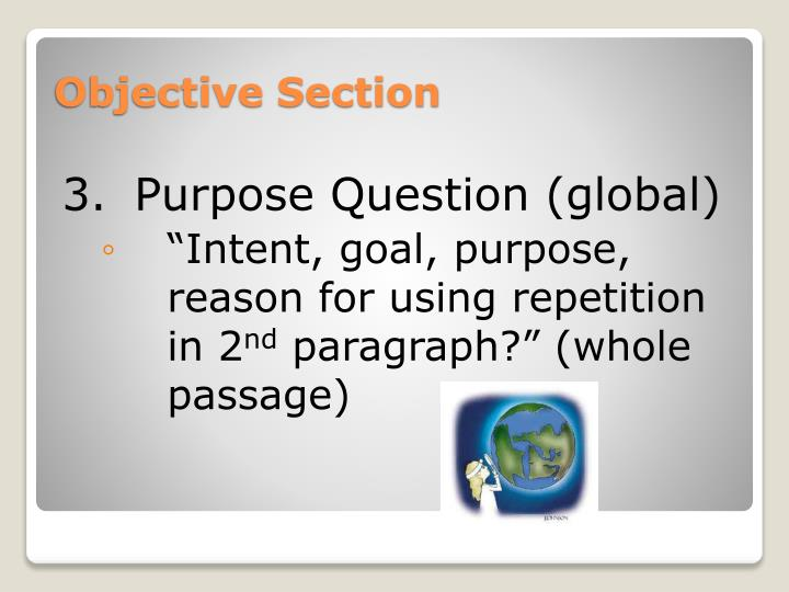 Objective Section