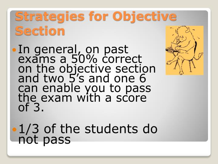 Strategies for Objective Section