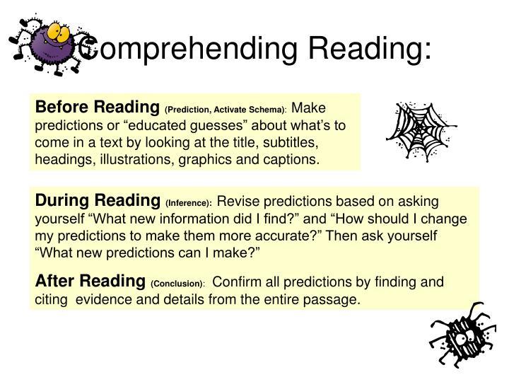 Comprehending Reading: