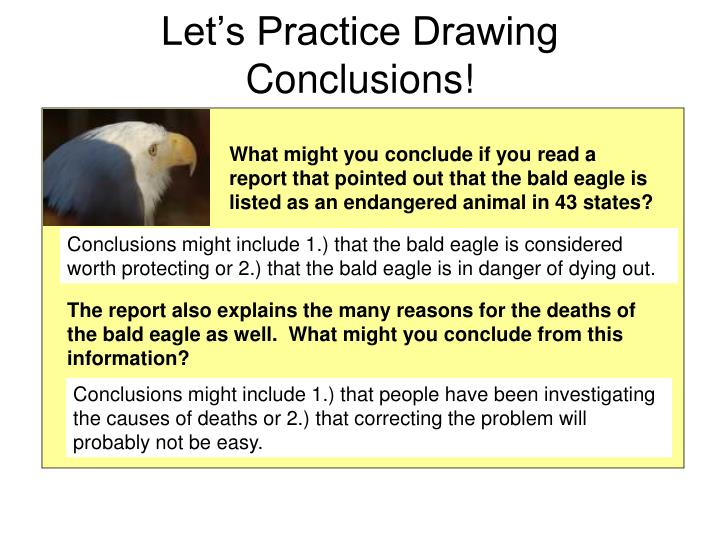 Let's Practice Drawing Conclusions!
