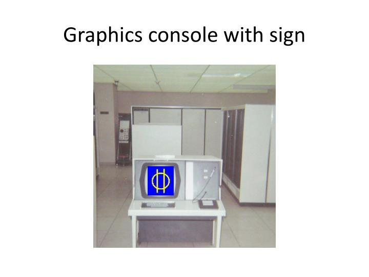Graphics console with sign