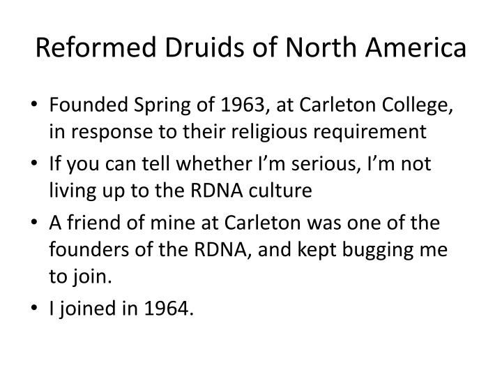 Reformed Druids of North America