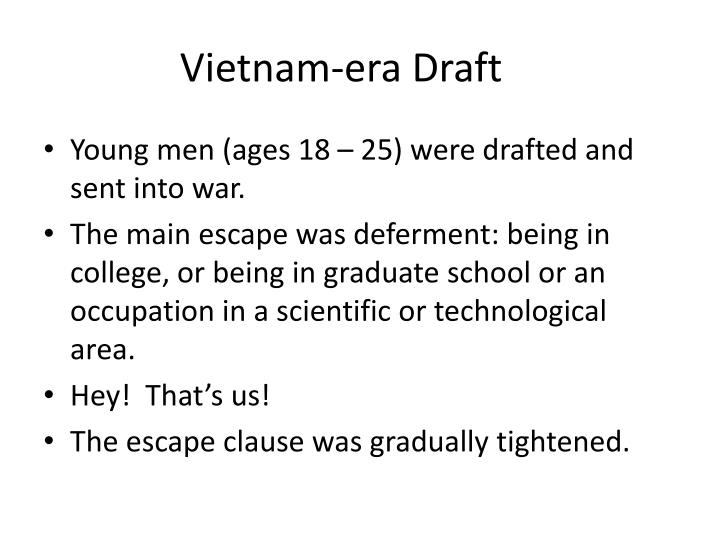 Vietnam-era Draft