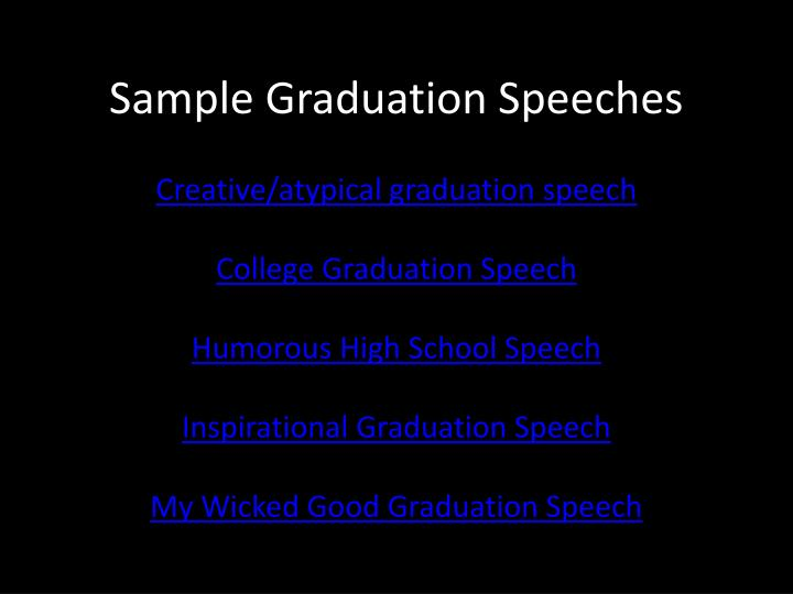 Sample Graduation