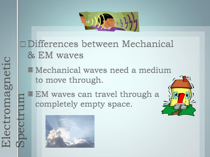 Differences between Mechanical & EM waves