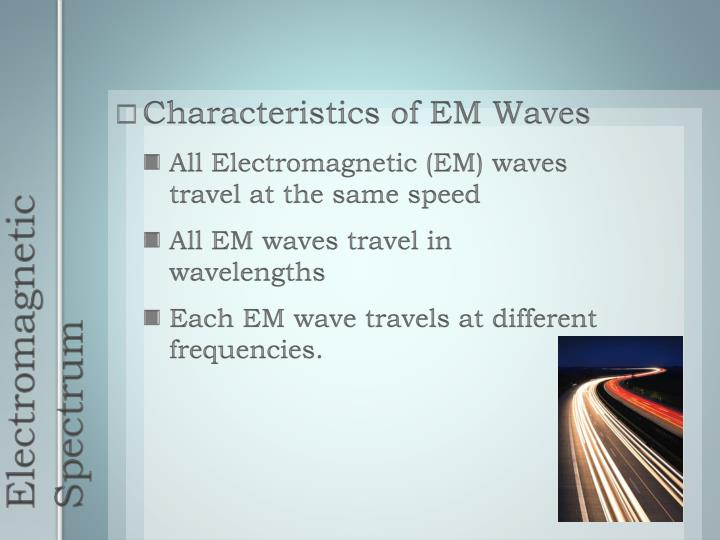 Characteristics of EM Waves