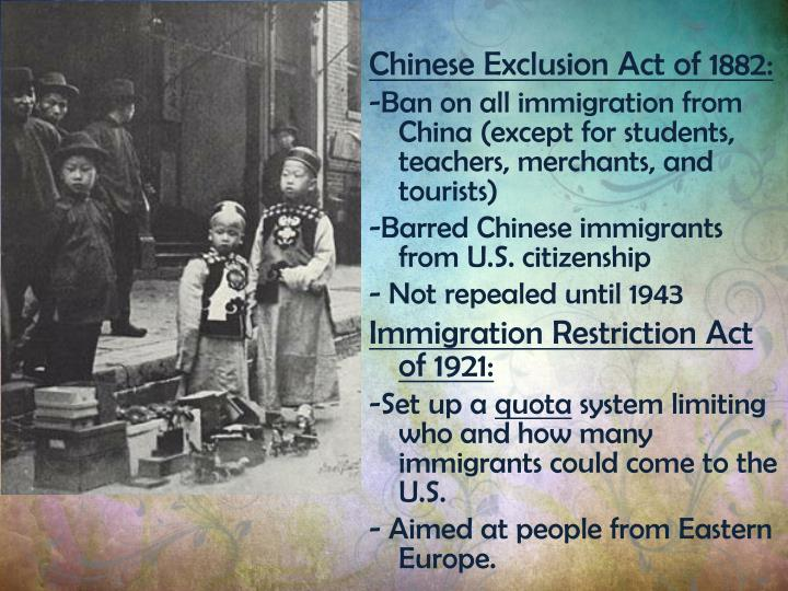 chinese exclusion acts