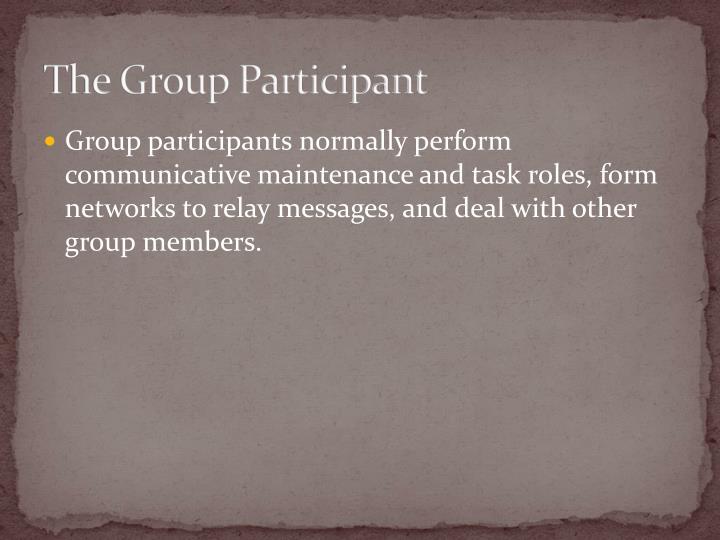 The Group Participant