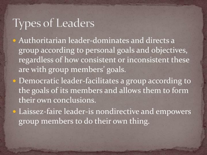 Types of Leaders