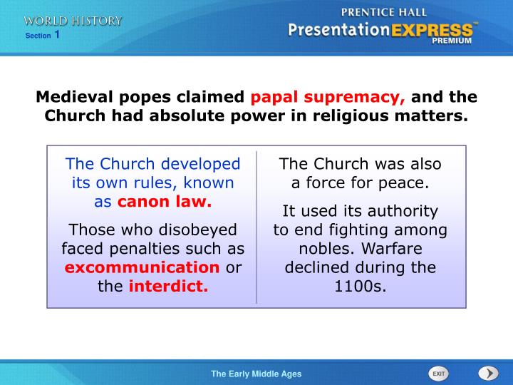 the monarchy challenged the papals authority by the end of the middle ages European history/print version from wikibooks, open books for an open world challenges to spiritual authority at the end of the middle ages luther challenged the role of the pope as the supreme temporal authority for interpreting god's will.