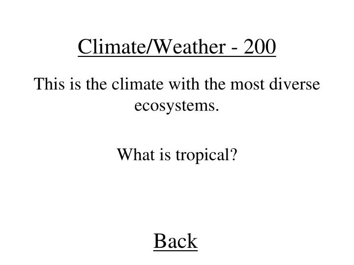 Climate/Weather - 200