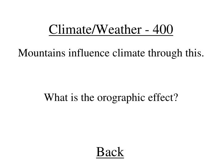 Climate/Weather - 400