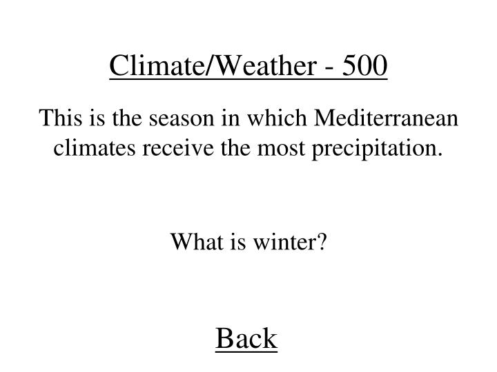 Climate/Weather - 500