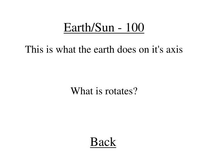 Earth/Sun - 100