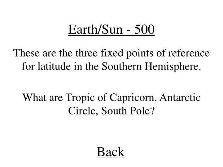 Earth/Sun - 500