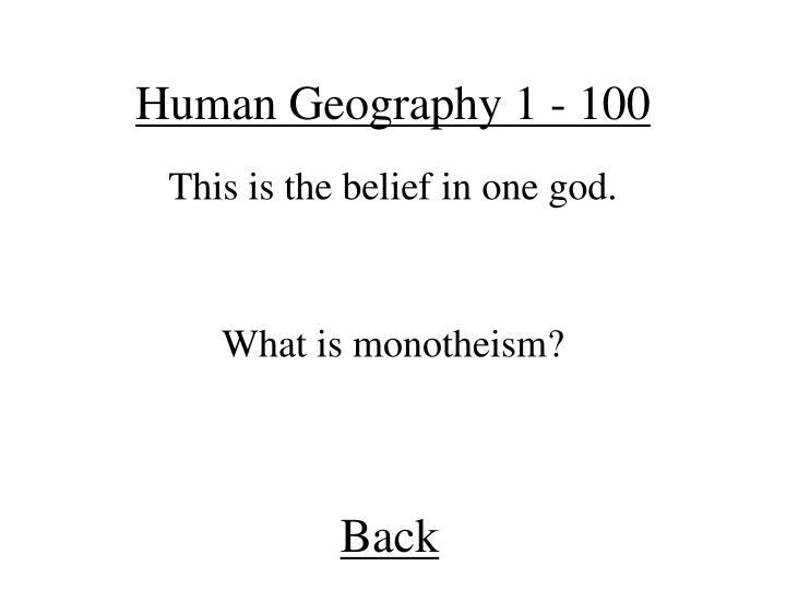 Human Geography 1 - 100