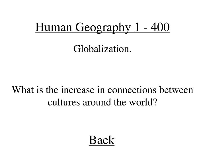 Human Geography 1 - 400