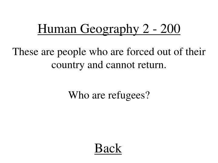 Human Geography 2 - 200
