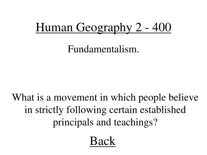 Human Geography 2 - 400