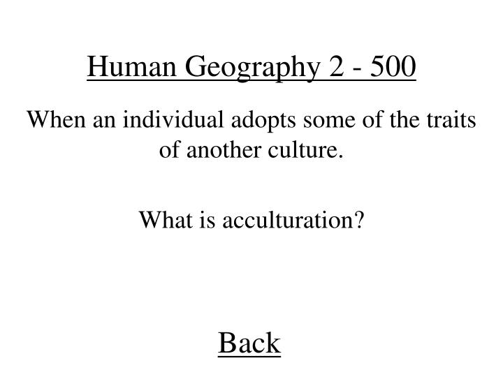 Human Geography 2 - 500
