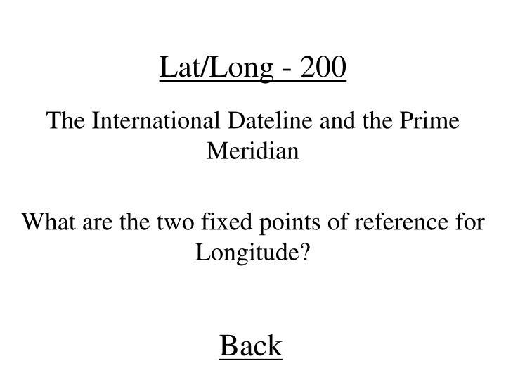 Lat/Long - 200