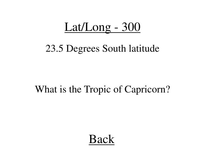Lat/Long - 300