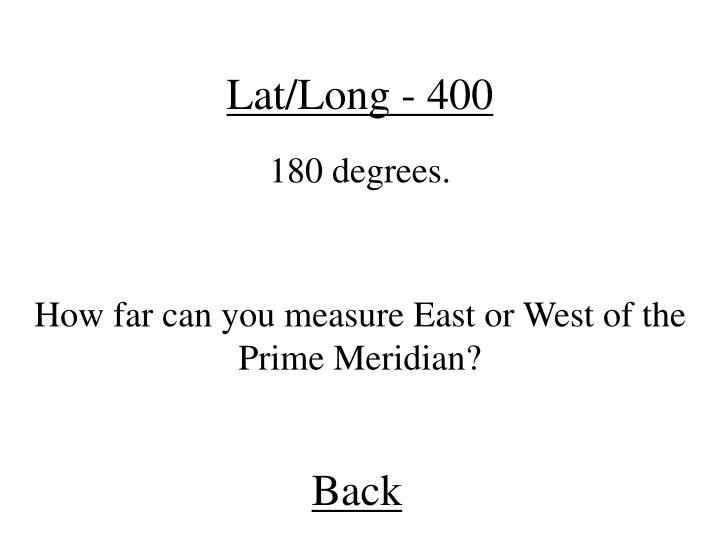 Lat/Long - 400
