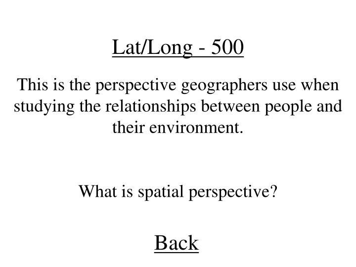 Lat/Long - 500