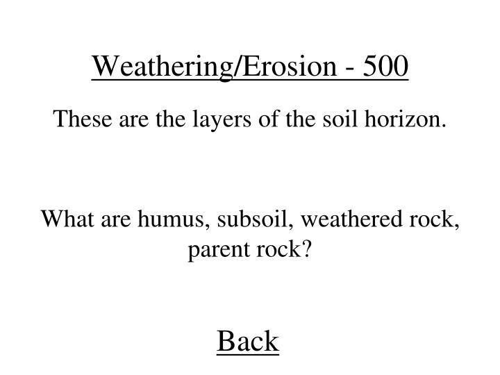 Weathering/Erosion - 500