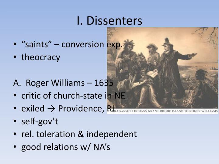 I. Dissenters